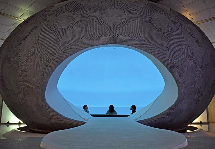 まんだら遊苑の「天界」エリアにある「天卵宮」