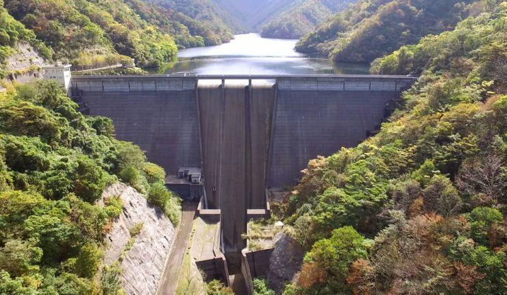 「柏崎ダム見学ツアー」で内部が初公開される赤岩ダム=柏崎市谷根(市提供)