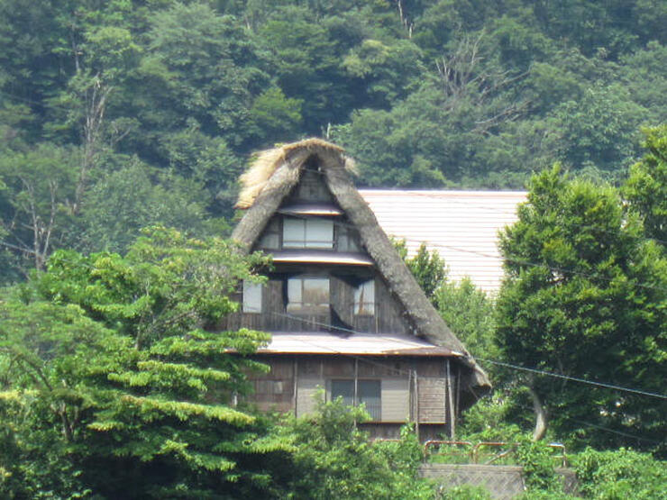 養蚕の体験施設としての再生計画がある合掌造り家屋=南砺市漆谷