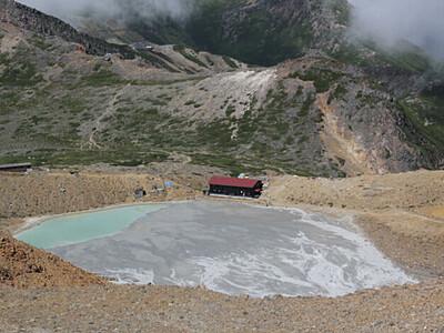 二ノ池、消えてしまう... 御嶽山噴火時の火山灰が流入