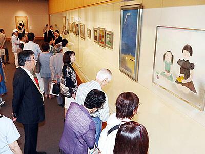 近代日本画の全体像一堂 県水墨美術館で「小倉遊亀展」