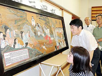 尾竹国一の絵馬を富山市の神社で発見
