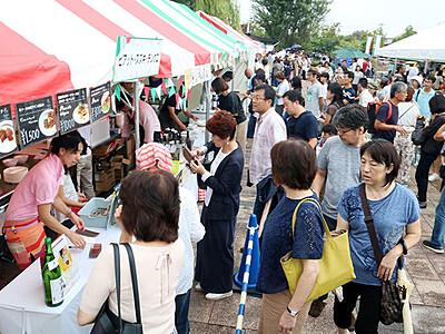 県食材のイタリアン格別 富山・環水公園で食の祭典