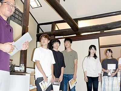免許合宿で小浜満喫 学生らが箸研ぎなどを体験