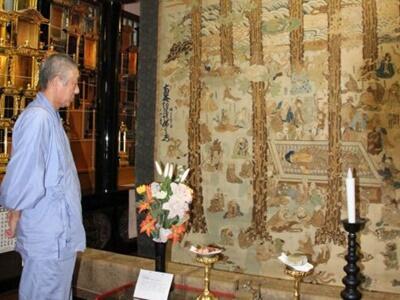 仏教の世界伝える大作 虫干しで一般公開 柏崎・極楽寺