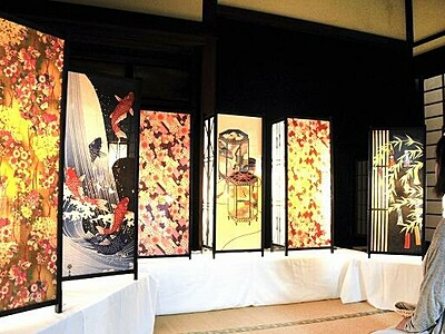 照明と着物で和の融合美 「和装のともしび」 福井・高浜