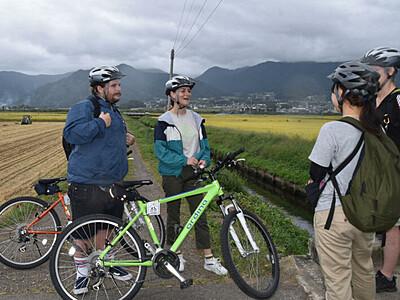 訪日外国人観光客向け自転車ツアー 飯山の自然とリンゴ収穫体験