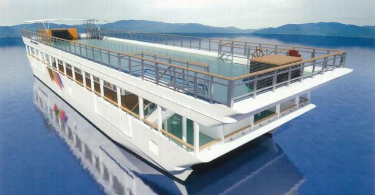 名称が「スワコスターマイン号」に決まった新型遊覧船のイメージ(東洋観光事業提供)