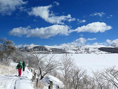 八島ケ原湿原、雪に包まれる魅力知って 山小屋が冬季喫茶営業へ