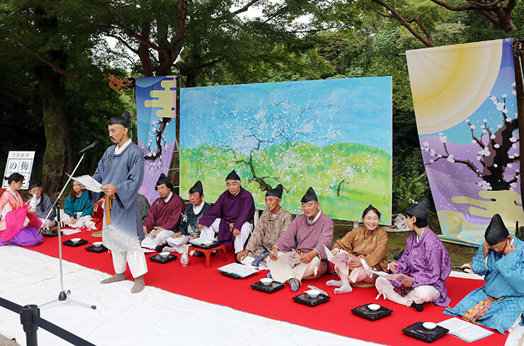 令和劇場「梅花の宴」を演じる参加者