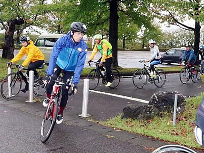 富山県西部巡り爽快 ロードバイクで90キロ