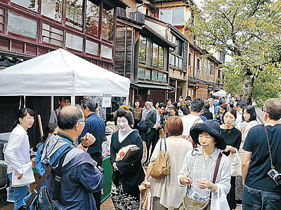 金沢・主計町、節目ことほぐ 旧町名復活20周年、重伝建選定10周年