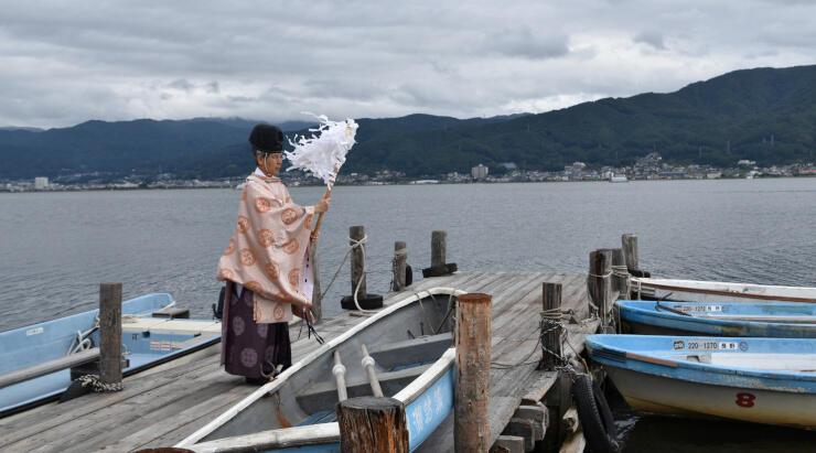 諏訪湖のワカサギ釣りの本格化に向けて開いた安全祈願式