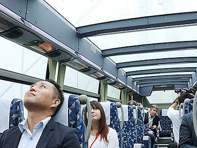 加越能バスが屋根透明なバス運行へ