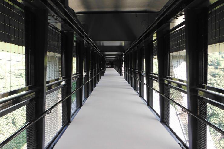 天龍峡大橋に併設された歩道