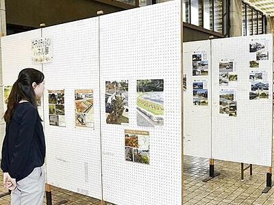 都市緑化月間合わせパネル展や活動発表 福井市役所など