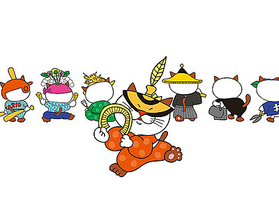 """南砺市に観光客を""""招き猫""""  「にゃんと氏」誕生"""