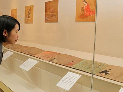 安土桃山の絵巻、間近に 諏訪で和歌テーマの企画展