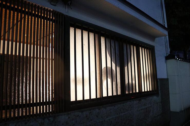 町屋などの窓を使って行われているあかりアート