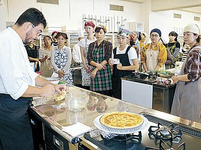 郷土料理を紹介 姉妹都市のシェフが講座
