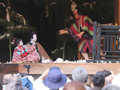 大鹿歌舞伎、地芝居熱演 秋の定期公演800人来場