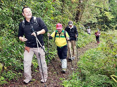 池田城跡の魅力に触れる ウオークに135人、歴史と自然を満喫 立山