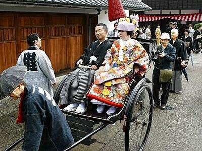 花嫁行列の憧れ、かなった 福井県越前市で昭和の慣習再現
