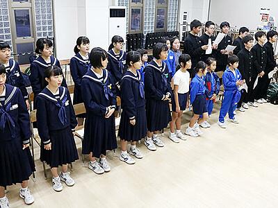 田中冬二の詩、合唱曲に 生地の中学生が作曲