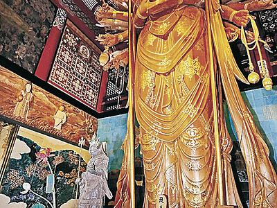 毘沙門天、初の公開 小松の那谷寺、鎌倉初期の木造