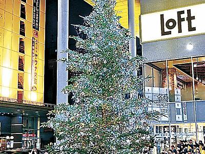 クリスマスツリー輝く きらら広場で点灯式