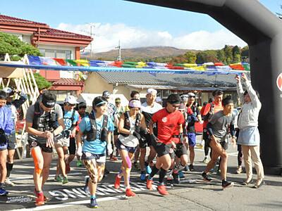 烏帽子岳、駆け登る 上田・東御2000メートル峰往復の大会