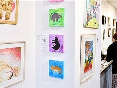 ギャラリー内猫づくし 福井・越前市、絵画や雑貨ずらり