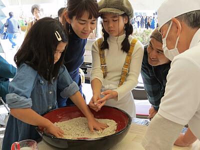 村特産タチアカネ堪能を 青木で「新そばまつり」