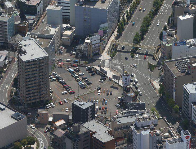 「アパホテル&リゾート新潟駅前大通」(仮称)と分譲マンションの建設予定地=新潟市中央区