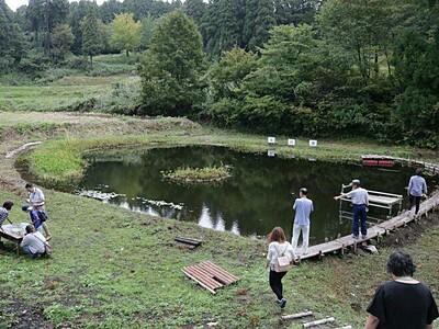 火打池景観よみがえる 散策用木道、階段設置 小国・法末