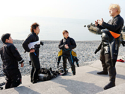 """滑川沖ダイビングスポット知名度""""世界級""""に 米見本市へ出展"""