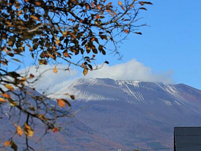 初冠雪 浅間山が冬の装い