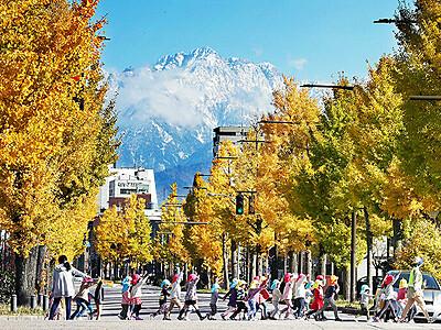 剱と共演 平和通り(富山市)