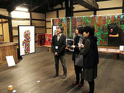 可能性感じる独創表現 高岡・勝興寺で障害者アート展