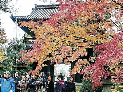 金沢の天徳院 珠姫の菩提寺で紅葉狩り