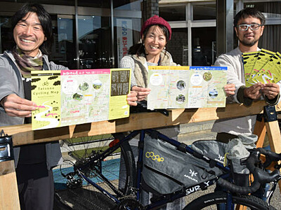 自転車で新たな魅力探しを 辰野周辺含めたコース、マップ第2弾