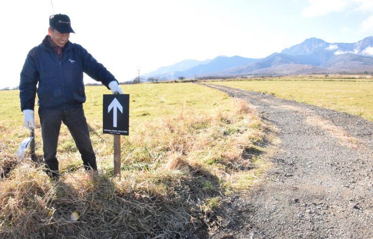 「野辺山グラベルチャレンジ」のコースに立つ滝沢さん