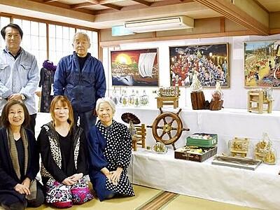 安島で生まれた美 作家5人が130点 福井・坂井