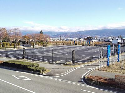 松本空港の第2駐車場 30日利用開始、混雑解消へ