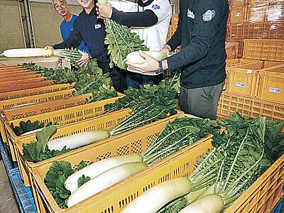 冬作だいこん 葉付きで甘み、金沢で出荷
