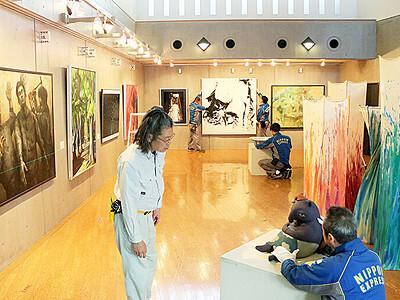 個性 響き合う空間 越中アートフェスタ、30日から新川巡回展