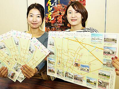 津沢まち歩きのお供 名所や飲食店マップ作成、散策楽しんで