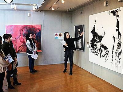高い技術・自由な発想 越中アートフェスタ新川巡回展開幕