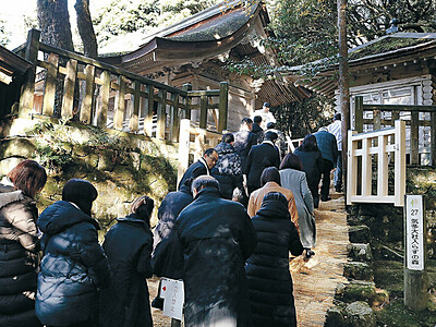 「入らずの森」初の一般公開 羽咋・気多大社