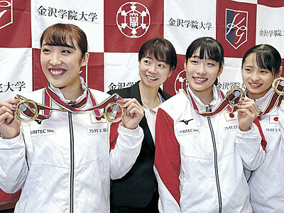 東京の「金」、石川で誓う 世界トランポリン優勝の森ひかる選手